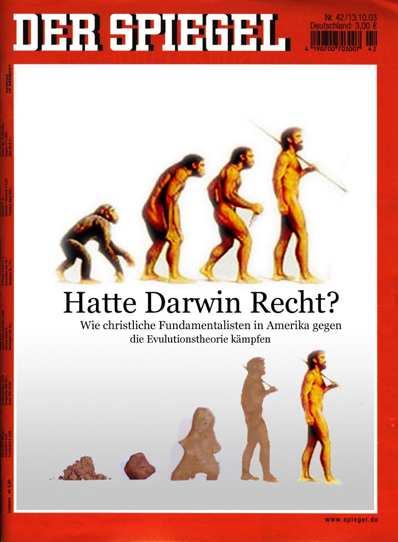 Experimental graphics design for Spiegel titelblatt